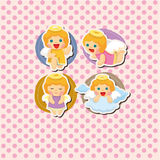 Cartoon angel card Stock Image
