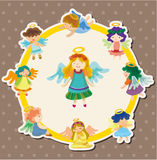 Cartoon angel card Royalty Free Stock Photography
