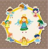 Cartoon angel card Royalty Free Stock Photography