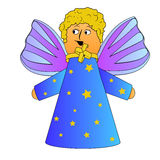 Cartoon angel with curly hairs vector Stock Image
