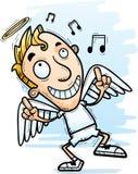 Cartoon Angel Dancing. A cartoon illustration of an angel dancing Royalty Free Stock Image