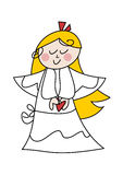 Cartoon angel girl Stock Image