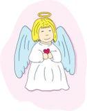 Cartoon angel with a heart Stock Photo