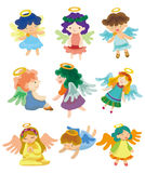 Cartoon Angel icon. Vector drawing Royalty Free Stock Image