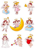 Cartoon angel icon. Vector drawing Royalty Free Stock Image