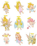 Cartoon angel icon. Vector drawing Royalty Free Stock Photos