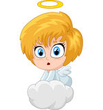 Cartoon angel isolated on white background Royalty Free Stock Photography
