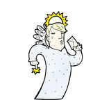 Cartoon angel with letter Stock Image
