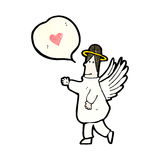 Cartoon angel with love heart Royalty Free Stock Images