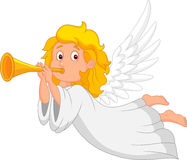 Cartoon angel with trumpet Royalty Free Stock Image