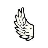 Cartoon angel wing Stock Photo