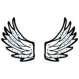 cartoon angel wings Royalty Free Stock Photos