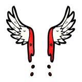 cartoon angel wings Stock Photo