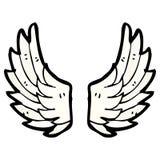 cartoon angel wings Royalty Free Stock Photo