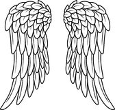 Cartoon angel wings Stock Image