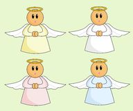 Cartoon Angels Royalty Free Stock Photo