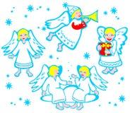 Cartoon angels Stock Photo