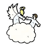 cartoon angels in heaven Stock Images