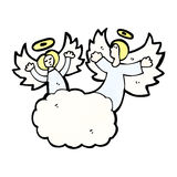 cartoon angels in heaven Royalty Free Stock Image