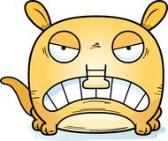 Cartoon Angry Aardvark. A cartoon illustration of a little aardvark with an angry expression royalty free illustration