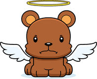 Cartoon Angry Angel Bear Stock Photography