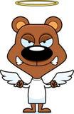 Cartoon Angry Angel Bear Royalty Free Stock Photo