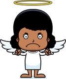 Cartoon Angry Angel Girl Royalty Free Stock Photos