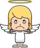 Cartoon Angry Angel Girl Stock Image