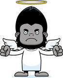 Cartoon Angry Angel Gorilla Royalty Free Stock Photo