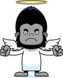 Cartoon Angry Angel Gorilla Royalty Free Stock Photo