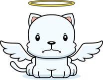 Cartoon Angry Angel Kitten Stock Photo