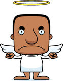 Cartoon Angry Angel Man Stock Images