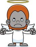 Cartoon Angry Angel Orangutan Royalty Free Stock Photos