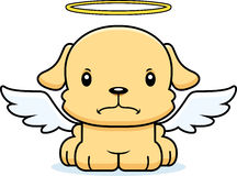Cartoon Angry Angel Puppy Royalty Free Stock Image