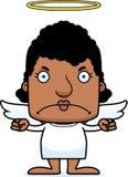 Cartoon Angry Angel Woman Stock Photo