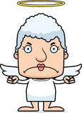 Cartoon Angry Angel Woman Royalty Free Stock Photo