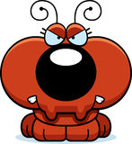 Cartoon Angry Ant. A cartoon illustration of a little ant with an angry expression stock illustration