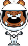 Cartoon Angry Astronaut Bear Royalty Free Stock Images