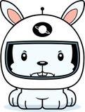 Cartoon Angry Astronaut Bunny Royalty Free Stock Photo