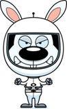Cartoon Angry Astronaut Bunny Stock Photography