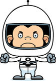 Cartoon Angry Astronaut Chimpanzee Royalty Free Stock Images