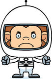 Cartoon Angry Astronaut Monkey Royalty Free Stock Photos