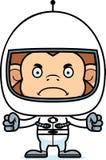 Cartoon Angry Astronaut Monkey Royalty Free Stock Photos