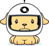 Cartoon Angry Astronaut Puppy Stock Image