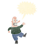 Cartoon angry bald man Stock Photography