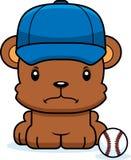 Cartoon Angry Baseball Player Bear Royalty Free Stock Images