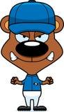 Cartoon Angry Baseball Player Bear Royalty Free Stock Photo