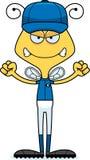 Cartoon Angry Baseball Player Bee Stock Images
