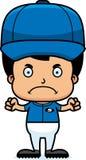 Cartoon Angry Baseball Player Boy Royalty Free Stock Photos