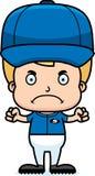 Cartoon Angry Baseball Player Boy Stock Image